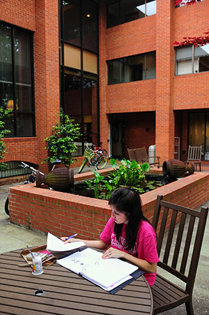 Honors College Courtyard
